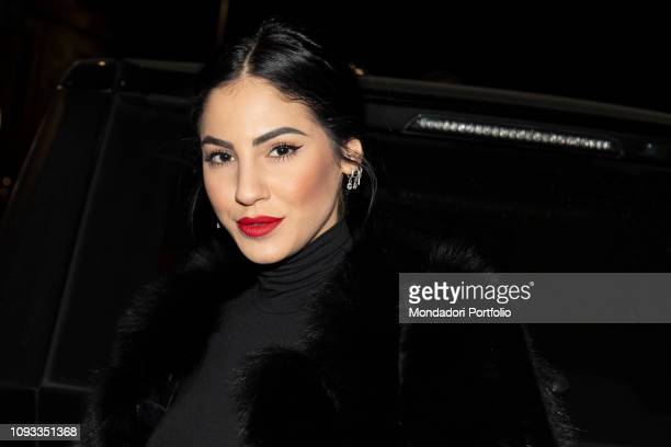 Giulia De Lellis arrives at the GQ Best Dressed Men 2019 Party at the Teatro Vetra Milan January 11th 2019