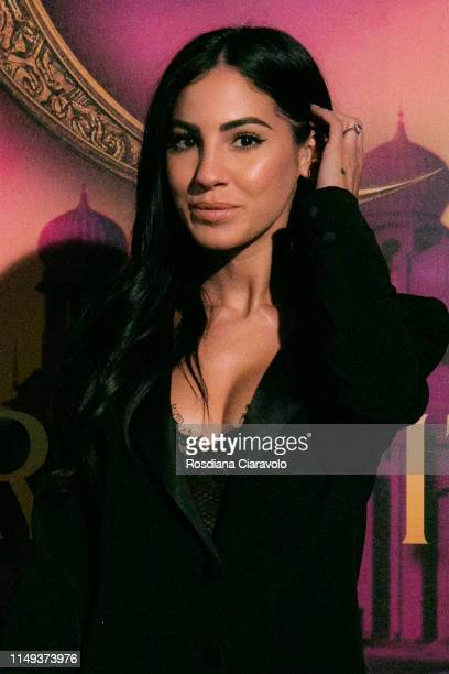 Giulia De Lellis attends the Aladdin photocall and red carpet at The Space Cinema Odeon on May 15 2019 in Milan Italy