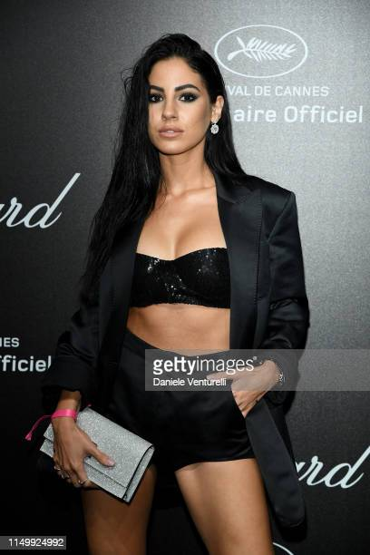 Giulia De Lellis attends the Chopard Love Night photocall on May 17 2019 in Cannes France