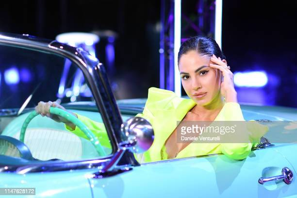 Giulia De Lellis attends the TEZENIS Show Drive In on May 07 2019 in Verona Italy