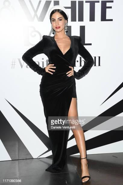 """Giulia De Lellis attends the Vanity Fair """"Black And White"""" Ball Photocall during the 76th Venice Film Festival at Scuola Grande della Misericordia on..."""