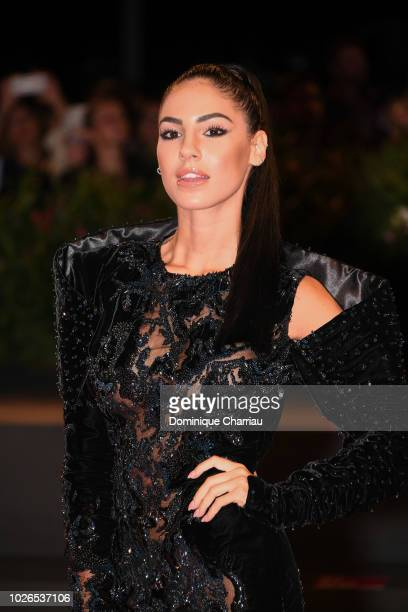Giulia De Lellis walks the red carpet ahead of the 'Dragged Across Concrete' screening during the 75th Venice Film Festival at Sala Grande on...