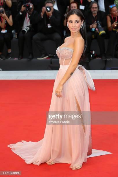Giulia De Lellis walks the red carpet ahead of the The Laundromat screening during the 76th Venice Film Festival at Sala Grande on September 01 2019...
