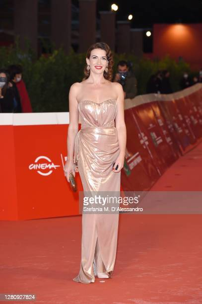 """Giulia Di Quilio attends the red carpet of the movie """"Tigers"""" during the 15th Rome Film Festival on October 18, 2020 in Rome, Italy."""