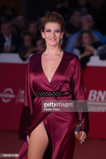 Giulia Di Quilio walks the red carpet ahead of the 'Notti Magiche' screening during the 13th Rome Film Fest