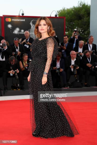 Giulia Elettra Gorietti walks the red carpet ahead of the '22 July' screening during the 75th Venice Film Festival at Sala Grande on September 5 2018...