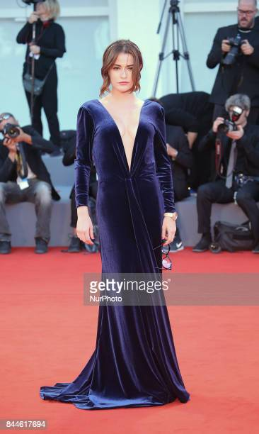 Giulia Elettra Gorietti walks the red carpet ahead of the 'Racer And The Jailbird ' screening during the 74th Venice Film Festival on September 8...