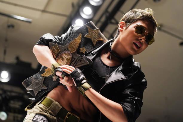 Giulia enters the ring during the Women's Pro-Wrestling 'Stardom' at Korakuen Hall on June 08, 2021 in Tokyo, Japan.