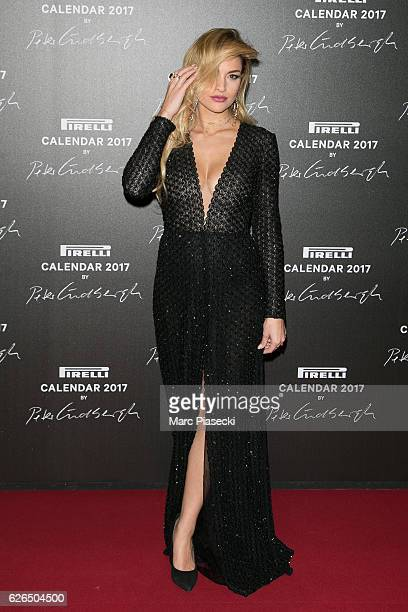 Giulia Gaudino attends 'Pirelli Calendar 2017 by Peter Lindberg' photocall at La Cite Du Cinema on November 29 2016 in SaintDenis France