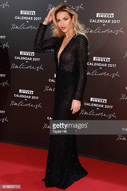 Giulia Gaudino attends the 2016 Pirelli Calendar unveiling gala at La Cite Du Cinema on November 29 2016 in SaintDenis France