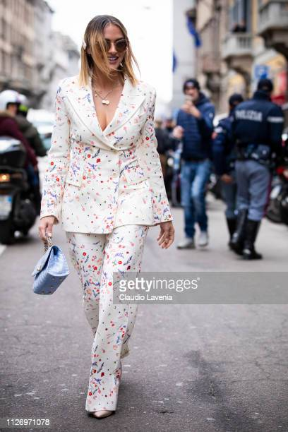 Giulia Gaudino attends the Ermanno Scervino show at Milan Fashion Week Autumn/Winter 2019/20 on February 23 2019 in Milan Italy