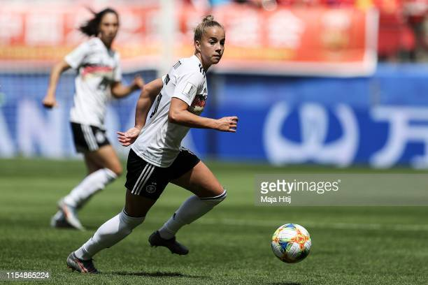 Giulia Gwinn of Germany controls the ball during the 2019 FIFA Women's World Cup France group B match between Germany and China PR at Roazhon Park on...