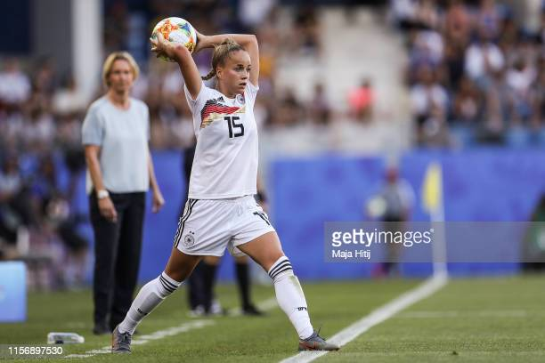 Giulia Gwinn of Germany controls the ball during the 2019 FIFA Women's World Cup France group B match between South Africa and Germany at Stade de la...