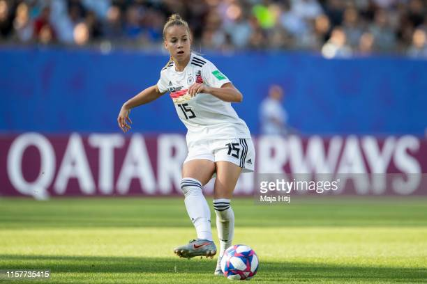 Giulia Gwinn of Germany controls the ball during the 2019 FIFA Women's World Cup France Round Of 16 match between Germany and Nigeria at Stade des...