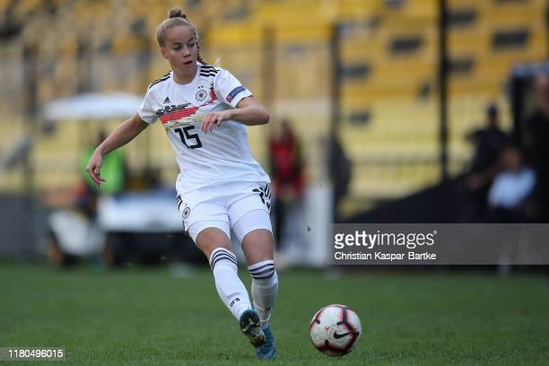 Giulia Gwinn of Germany in action during the UEFA Women's European Championship 2021 qualifier match between Greece and Germany at Kleanthis...