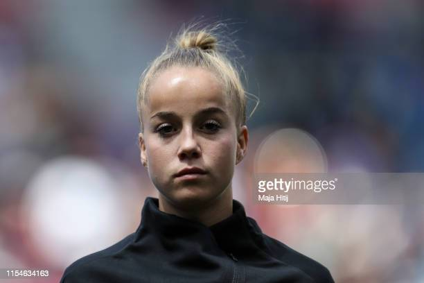 Giulia Gwinn of Germany looks on prior to the 2019 FIFA Women's World Cup France group B match between Germany and China PR at Roazhon Park on June...