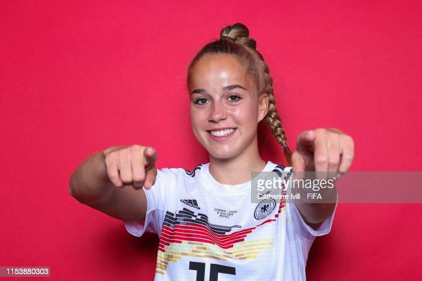 Giulia Gwinn of Germany poses for a portrait during the official FIFA Women's World Cup 2019 portrait session at Domaine de CiceBlossac on June 05...