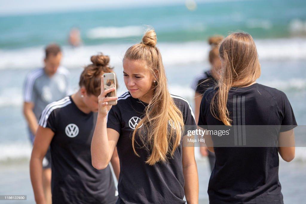 Germany visit La Grande Motte Beach- 2019 FIFA Women's World Cup France : News Photo