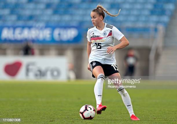 Giulia Gwinn of Germany Women during the Germany v Sweden, Algarve Cup match at Algarve Stadium on March 4, 2020 in Faro Portugal.