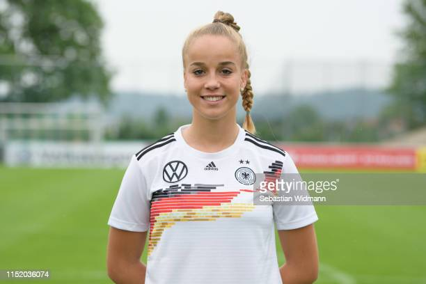 Giulia Gwinn poses during Germany Women's Team Presentation on May 27, 2019 in Grassau, Germany.