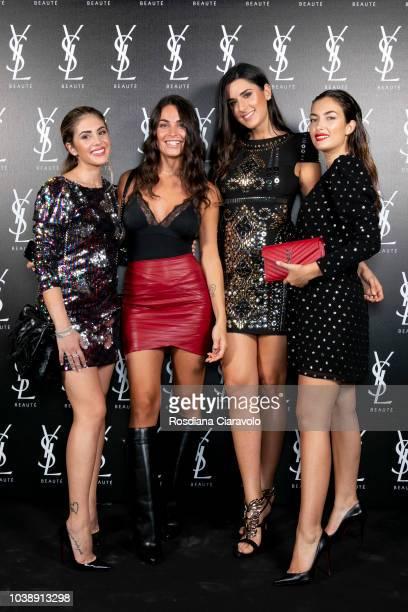 Giulia Latini Vittoria Deganello Valentina Virginali and Nilufar Addati attend Ysl Beauty Club Milan during Milan Fashion Week Spring/Summer 2019 on...
