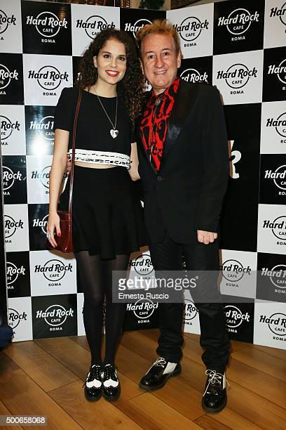 Giulia Luzi and Dario Salvatori attend the presentation of 'Il Salvatori 2016' song dictionary at Hard Rock Cafe on December 9, 2015 in Rome, Italy.