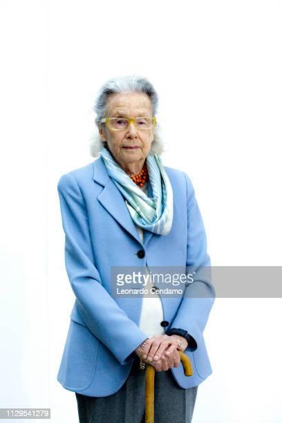 Giulia Maria Crespi Italian writer and President Fai Mantova Italy June 1975