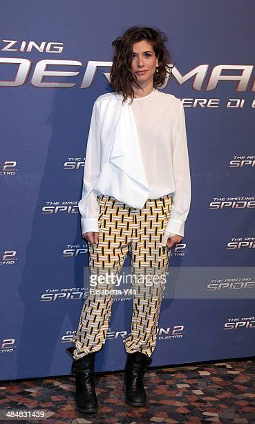 Giulia Michelini attends 'The Amazing Spider-Man 2: Rise Of Electro' Rome Premiere at The Space Moderno Cinema on April 14, 2014 in Rome, Italy.