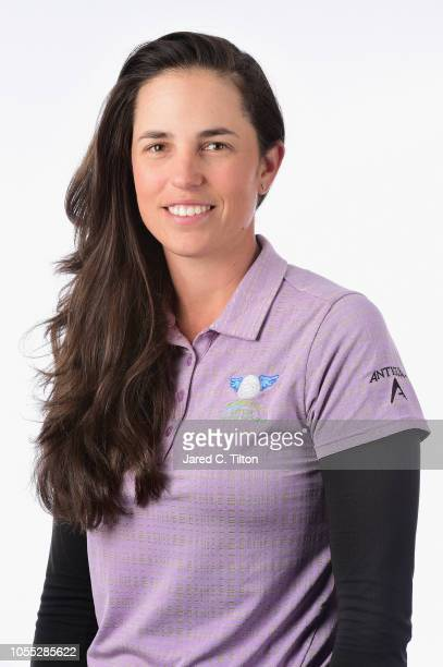 Giulia Molinaro of Italy poses for a portrait during the LPGA Q Series Head Shots session at Pinehurst Resort on October 29 2018 in Pinehurst North...