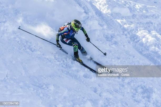 Giulia Murada in action during Italian Team Ski Mountaineering Championships on February 14, 2021 in ALBOSAGGIA, Italy.