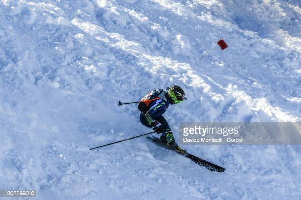 Giulia Murada in action in the women's senior category during Italian Team Ski Mountaineering Championships on February 14, 2021 in ALBOSAGGIA, Italy.