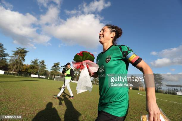 Giulia Oralndi of Florentia San Gimignano Women last game of his careers during the Women Serie A match between Florentia and AC Milan on November 30...