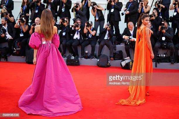 Giulia Salemi and Dayane Mello attend the premiere of 'The Young Pope' during the 73rd Venice Film Festival at Palazzo del Casino on September 3 2016...