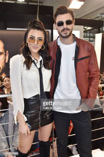 Giulia Salemi and Francesco Monte attend MIDO 2019– Milano Eyewear Show on February 24 2019 in Milan Italy