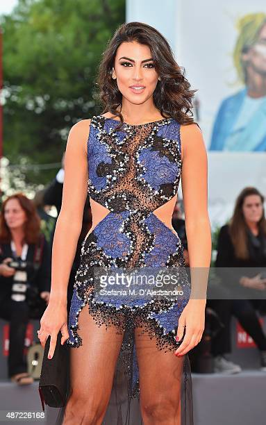 Giulia Salemi attends a premiere for 'Rabin The Last Day' during the 72nd Venice Film Festival at Sala Grande on September 7 2015 in Venice Italy