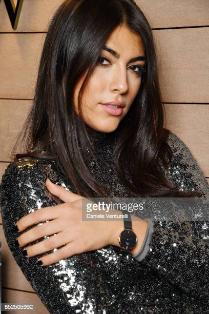 Giulia Salemi attends #DWMilan cocktail party at Hotel la Gare on September 23 2017 in Milan Italy