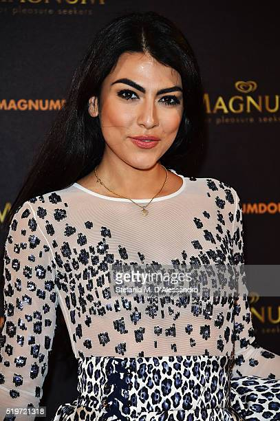 Giulia Salemi attends 'Libera Il Tuo Istinto' Party by Magnum on April 7 2016 in Milan Italy