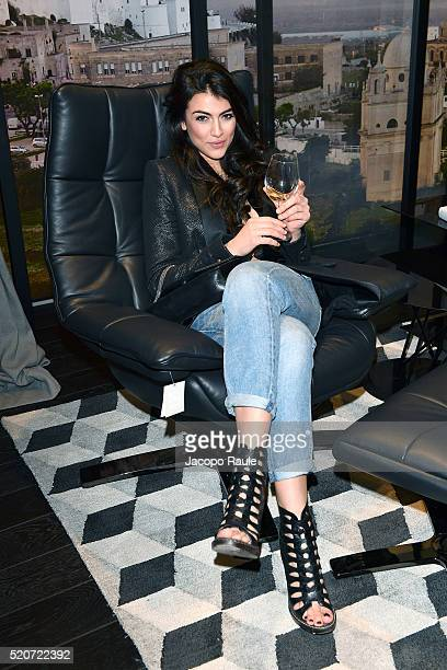 Giulia Salemi attends Natuzzi Soul Landscapes on April 12, 2016 in Milan, Italy.