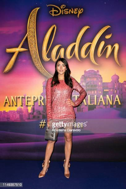 Giulia Salemi attends the Aladdin photocall and red carpet at The Space Cinema Odeon on May 15 2019 in Milan Italy