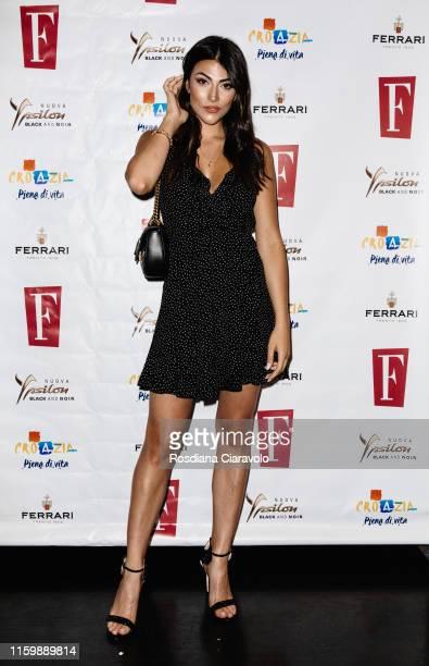 Giulia Salemi attends the F Magazine Party at Filippo La Mantia Oste e Cuoco restaurant on July 03 2019 in Milan Italy