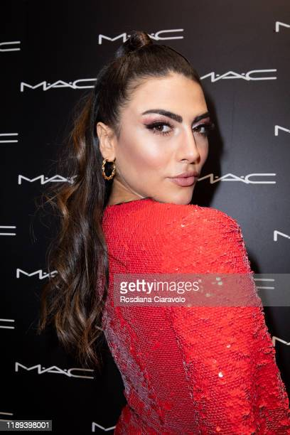 Giulia Salemi attends the presentation of Holiday MAC Starring You Collection at MAC Pro Store on November 21 2019 in Milan Italy