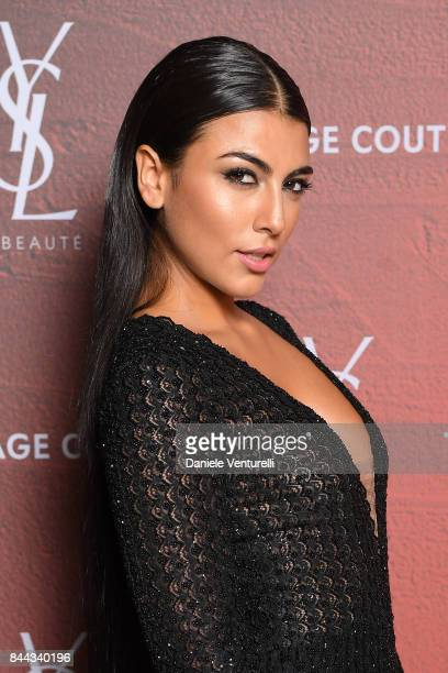Giulia Salemi attends the YSL Beauty Club Party during the 74th Venice Film Festival at Arsenale on September 8 2017 in Venice Italy