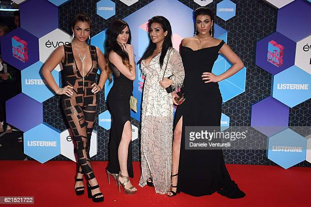 Giulia Salemi Elettra Lamborghini Arantxa Bustos and Emilia Cheranti attend the MTV Europe Music Awards 2016 on November 6 2016 in Rotterdam...