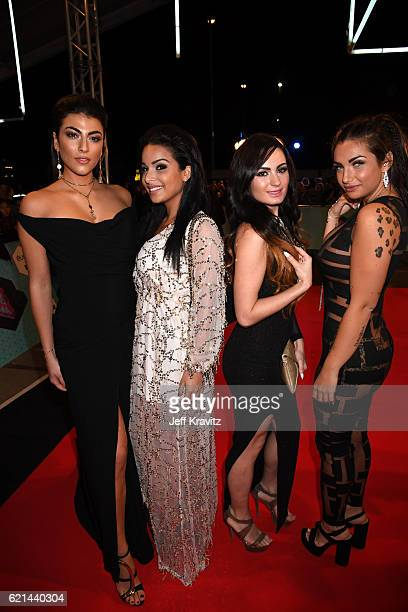 Giulia Salemi Emilia Cheranti Arantxa Bustos and Elettra Lamborghini attend the MTV Europe Music Awards 2016 on November 6 2016 in Rotterdam...