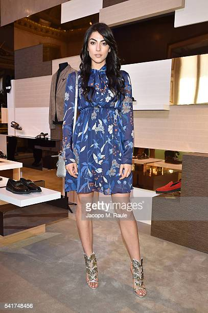 Giulia Salemi is seen at Giuseppe Zanotti Design Presentation during Milan Men's Fashion Week Spring/Summer 2017 on June 18 2016 in Milan Italy