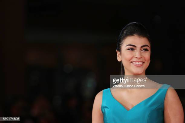 Giulia Salemi walks a red carpet for 'The Place' during the 12th Rome Film Fest at Auditorium Parco Della Musica on November 4 2017 in Rome Italy