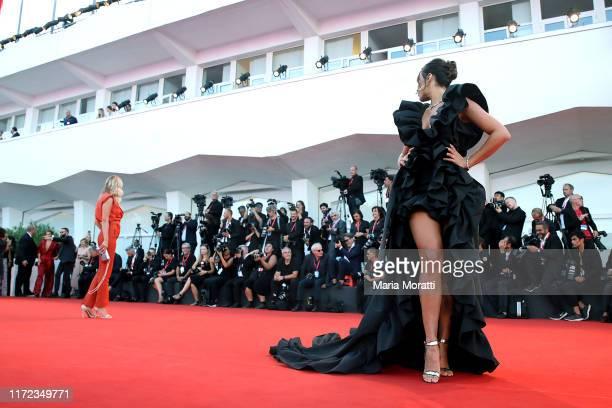 Giulia Salemi walks the red carpet ahead of the Lan Xin Da Ju Yuan screening during the 76th Venice Film Festival at Sala Grande on September 04 2019...