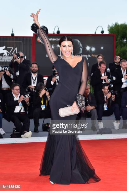 Giulia Salemi walks the red carpet ahead of the 'Racer And The Jailbird ' screening during the 74th Venice Film Festival at Sala Grande on September...