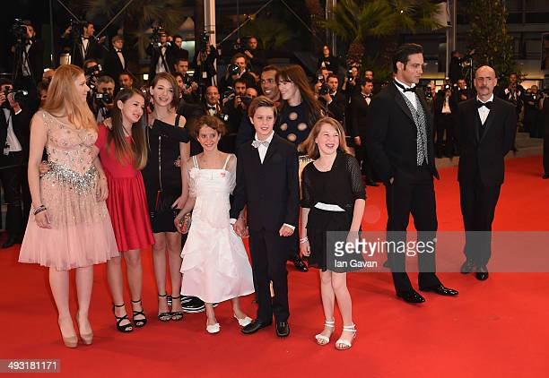 Giulia Salerno Andrea Pittorino Charlotte Gainsbourg and Gabriel Garko attend the 'Misunderstood' premiere during the 67th Annual Cannes Film...