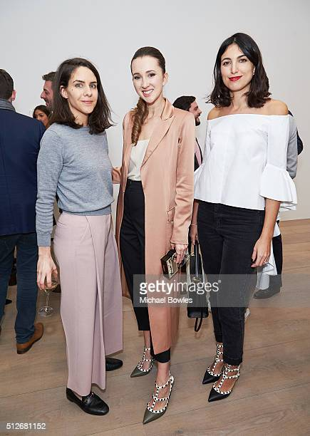 Giulia Sebregondi Maria Baibakova Federica Fanari attend cocktails to celebrate book launch of Industries of the Future by Alec Ross hosted by Maria...